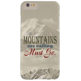 Tipografía del vintage que las montañas están funda para iPhone 6 plus barely there
