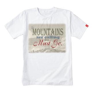 Tipografía del vintage que las montañas están playera zazzle HEART