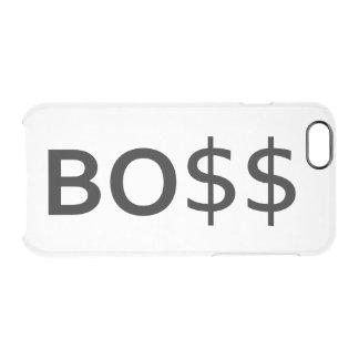 Tipografía divertida de BOSS con los dólares Funda Clear Para iPhone 6/6S