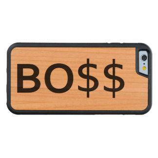 Tipografía divertida de BOSS con los dólares Funda De iPhone 6 Bumper Cerezo