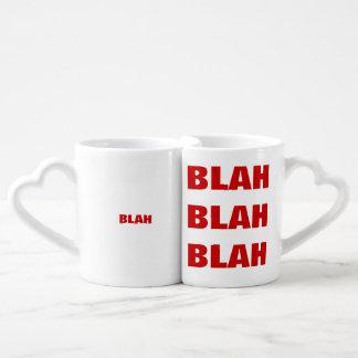 tipografía divertida sosa set de tazas de café