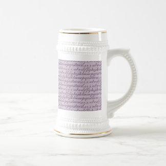 Tipografía elegante de la escritura del vintage qu tazas de café