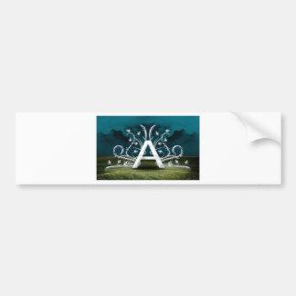 Tipografía elegante pegatina para auto