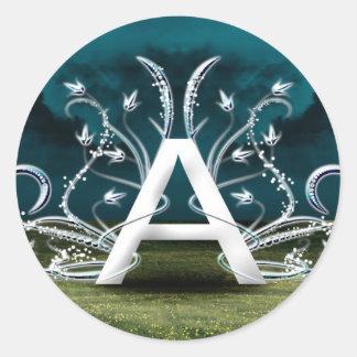 Tipografía elegante pegatina redonda