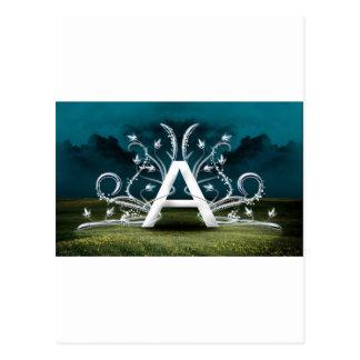 Tipografía elegante postal