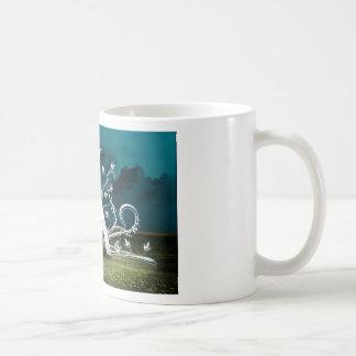 Tipografía elegante taza
