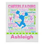Tipografía en colores pastel personalizada de las póster