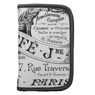 tipografía francesa de la publicidad del vintage planificadores