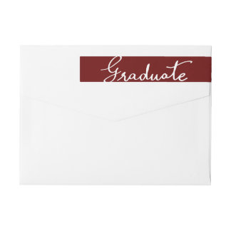 Tipografía graduada elegante marrón etiquetas para remite