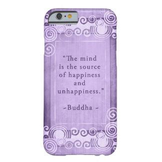 Tipografía inspirada de la cita de Buda Funda Barely There iPhone 6