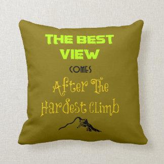 Tipografía inspirada de la cita de la motivación almohada