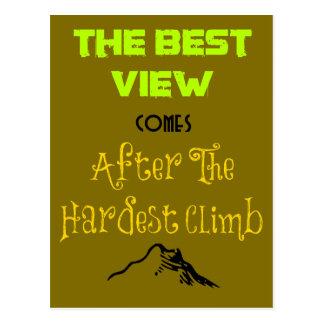 Tipografía inspirada de la cita de la motivación tarjetas postales