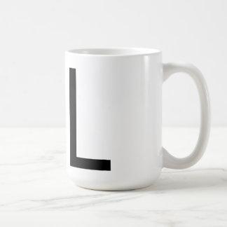 """Tipografía """"L"""" taza de Futura"""