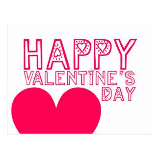 Tipografía linda del el día de San Valentín feliz Postal