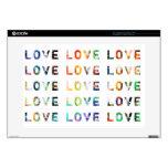 Tipografía moderna del amor skins para 38,1cm portátiles