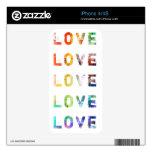 Tipografía moderna del amor skin para el iPhone 4