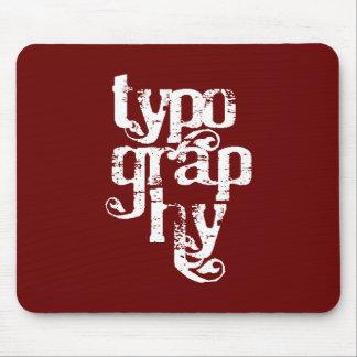 Tipografía Mousepad Tapete De Raton