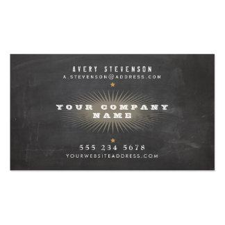 Tipografía negra rústica retra fresca del vintage tarjeta personal