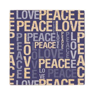 Tipografía púrpura de la paz del amor