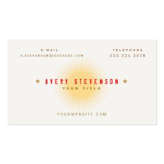 Tipografía retra de la estrella del vintage único tarjetas de visita