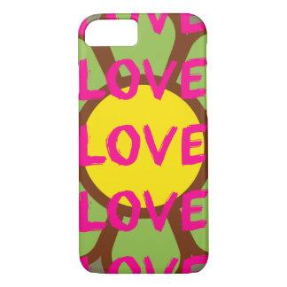 Tipografía retra del amor funda iPhone 7