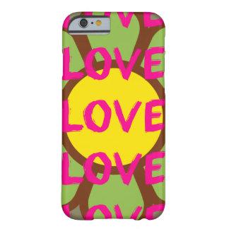 Tipografía retra del amor funda para iPhone 6 barely there