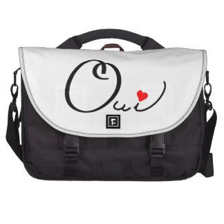 Tipografía roja blanca del corazón de la escritura bolsas para portatil