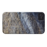 Tipografía romana en el foro, Roma, Italia Carcasa Para iPhone 4