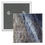 Tipografía romana en el foro, Roma, Italia Pin Cuadrado