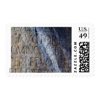 Tipografía romana en el foro, Roma, Italia Sello Postal