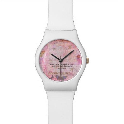 Tipografía romántica del arte de la cita del amor  relojes de pulsera