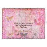 Tipografía romántica del arte de la cita del amor  tarjeta de felicitación
