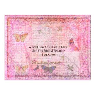 Tipografía romántica del arte de la cita del amor  tarjeta postal
