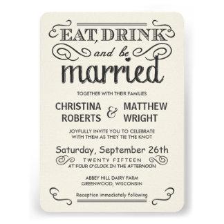 Tipografía rústica redondeada casando invitaciones