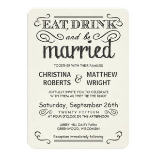 Tipografía rústica redondeada casando invitaciones comunicado personal