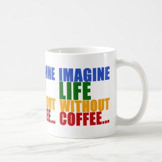 tipografía temática del color del café taza de café