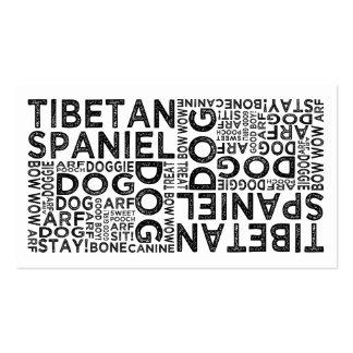 Tipografía tibetana del perro de aguas tarjeta personal