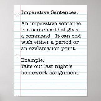 Tipos de frases:  Frases imprescindible Póster