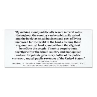 Tipos de interés de Federal Reserve del báculo Invitaciones Personalizada
