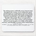 Tipos de interés de Federal Reserve del báculo pas Alfombrilla De Raton