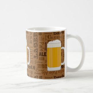 Tipos de la impresión 1 de la serie de la cerveza taza