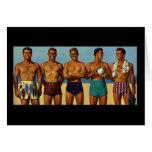 tipos de la playa de los años 50 felicitación