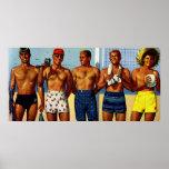 tipos de la playa de los años 50 posters
