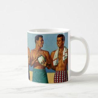 tipos de la playa de los años 50 tazas de café