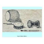 Tipos de los tambores Ukiyo-e. Tarjeta Postal