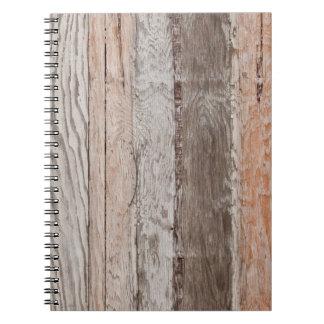 Tipos de madera nootebook libreta espiral