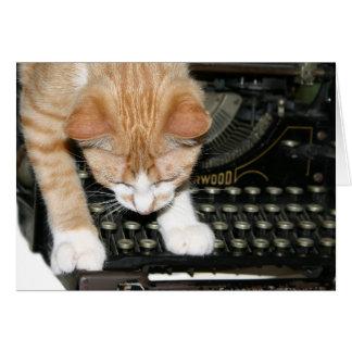 Tipos del gato del gatito tarjeta de felicitación