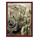 Tipos del vintage de transporte tarjeta postal