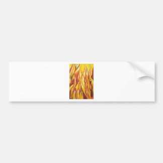Tipped Flames (abstract expressionism) Car Bumper Sticker