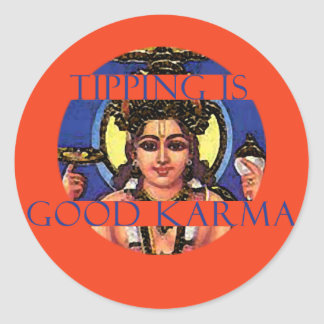 Tipping is Good Karma Tip Jar Sticker